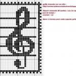 grille point de croix cle de sol
