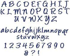 Grille point de croix lettres cursives 3 - Alphabet au point de croix grille gratuite ...