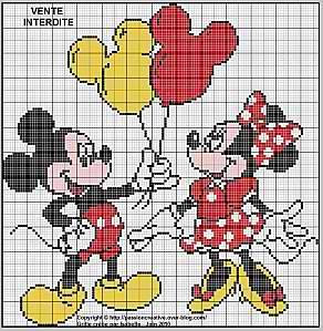 modèle point de croix mickey