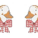 modèle point de croix oie