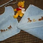 modèle point de croix serviette de bain