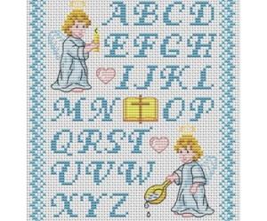 motif lettre point de croix