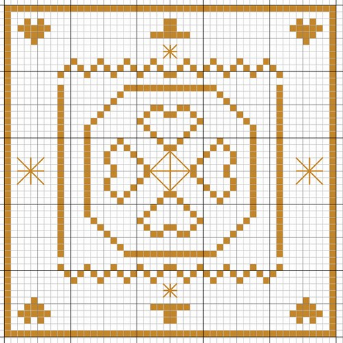 motif point de croix etoile