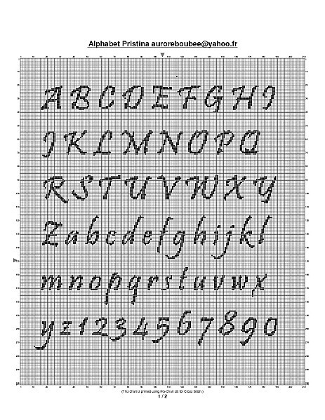 grille gratuite abecedaire au point de croix #6