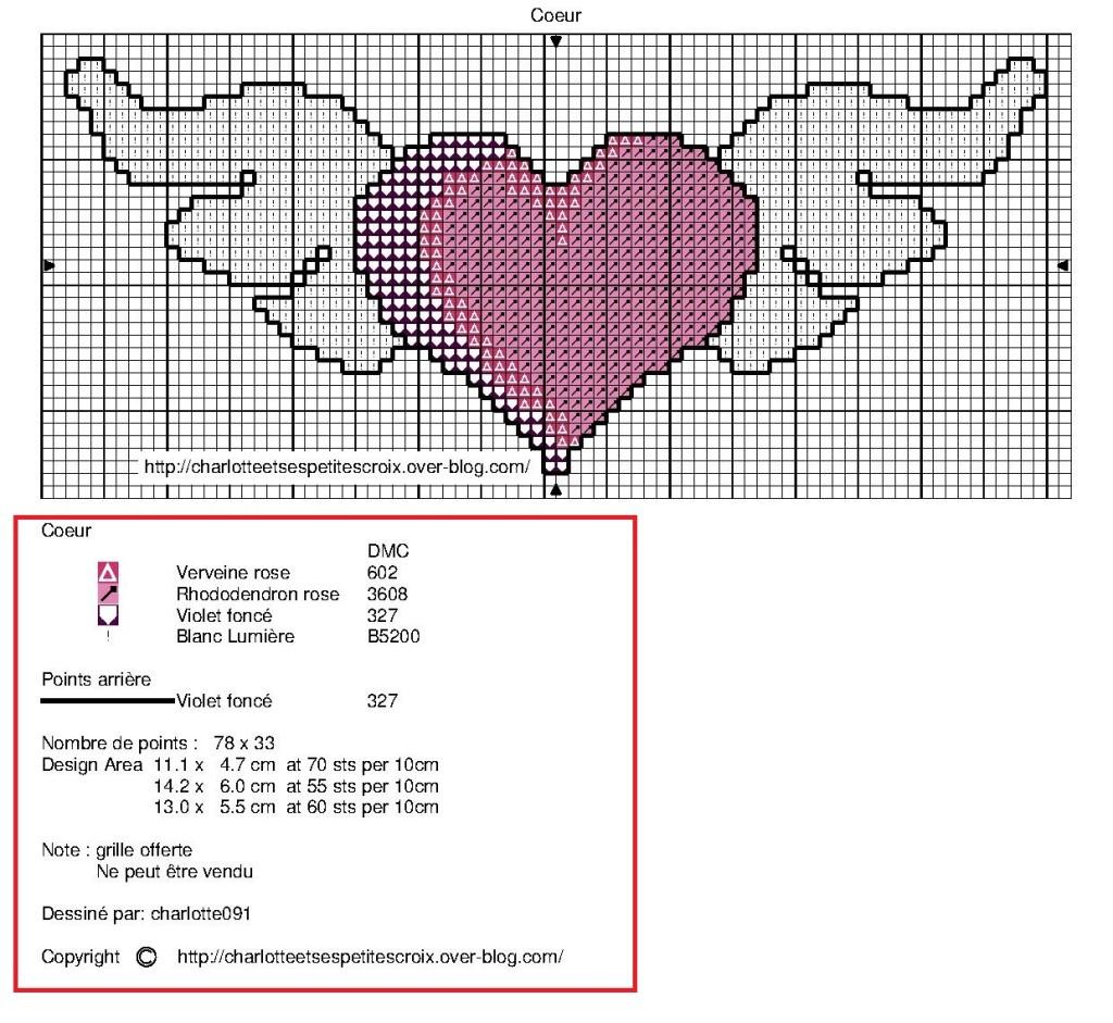 grille point de croix ailes ange #6