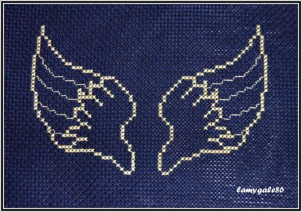 grille point de croix ailes ange #9