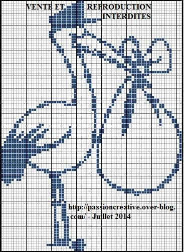 grille point de croix cigogne
