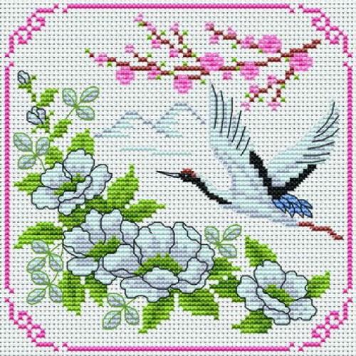 Мишкина весна - схема вышивки крестом скачать 18