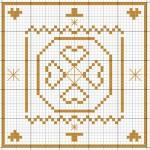 grille point de croix etoile