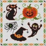 grille point de croix halloween