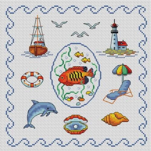 Grille point de croix mer 2 - Grille point de croix mer ...