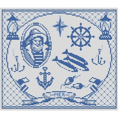 Grille point de croix mer 9 - Grille point de croix mer ...