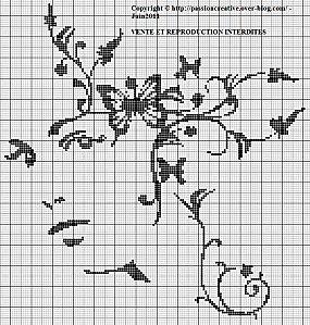 grille point de croix monochrome gratuite #9
