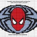 grille point de croix spiderman