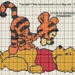 grille point de croix tigrou