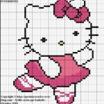 grille gratuite point de croix hello kitty danseuse