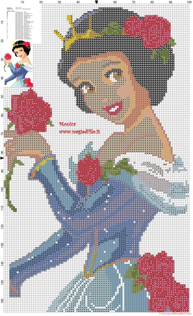 grille point de croix princesse disney gratuit #10