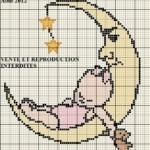 modèle point de croix bebe