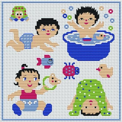 modèle point de croix pour bebe #9