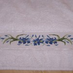 modèle point de croix serviette