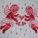 point de croix ange