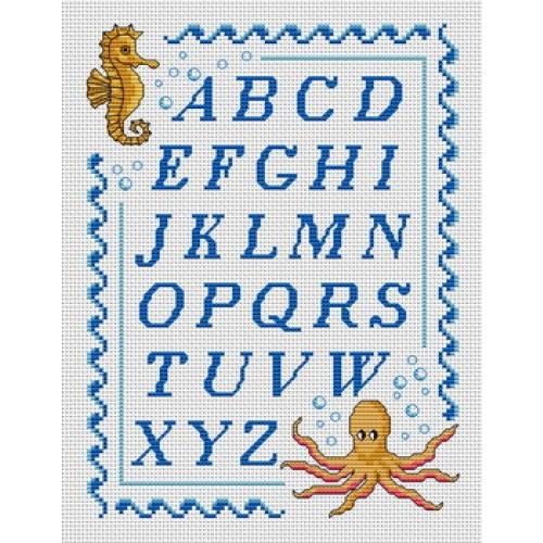 Point de croix gratuit alphabet 13 - Alphabet au point de croix grille gratuite ...