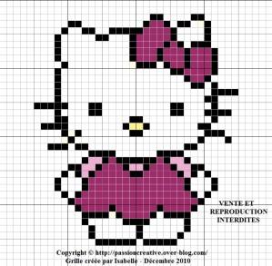 point de croix hello kitty grille gratuite