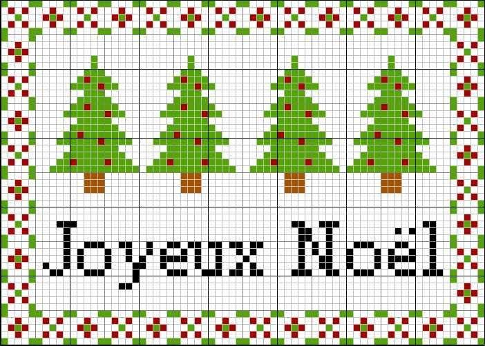 point de croix joyeux noel #1