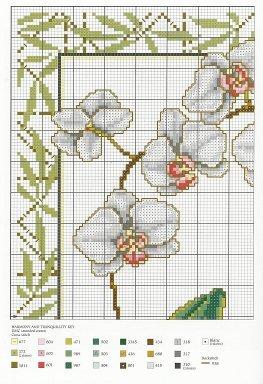 Grille point de croix orchidee gratuite 17 - Point de croix grille gratuite a imprimer ...