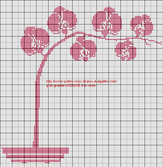 Grille point de croix orchidee gratuite 4 - Point de croix grille gratuite a imprimer ...