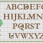 modèle point de croix lettre