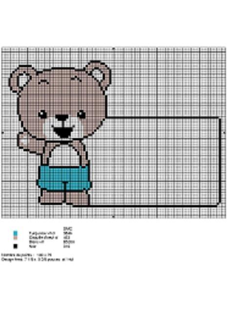 grille ours au point de croix #1