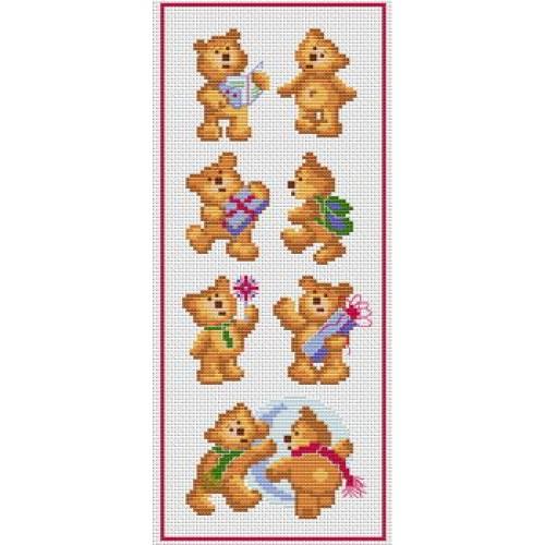 grille ours au point de croix #7