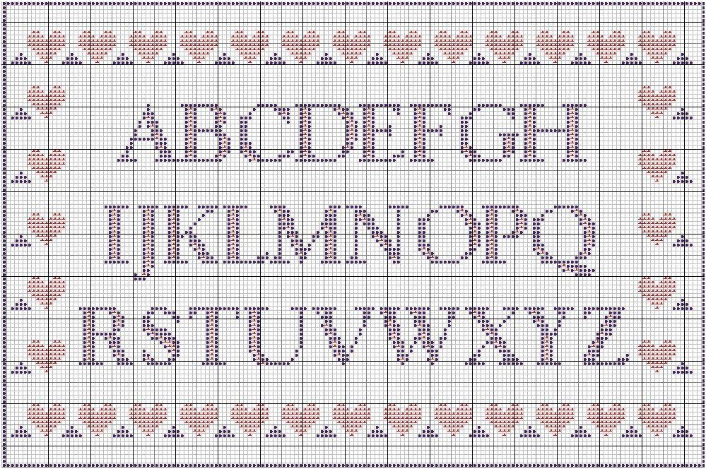 grille point de croix alphabet #12