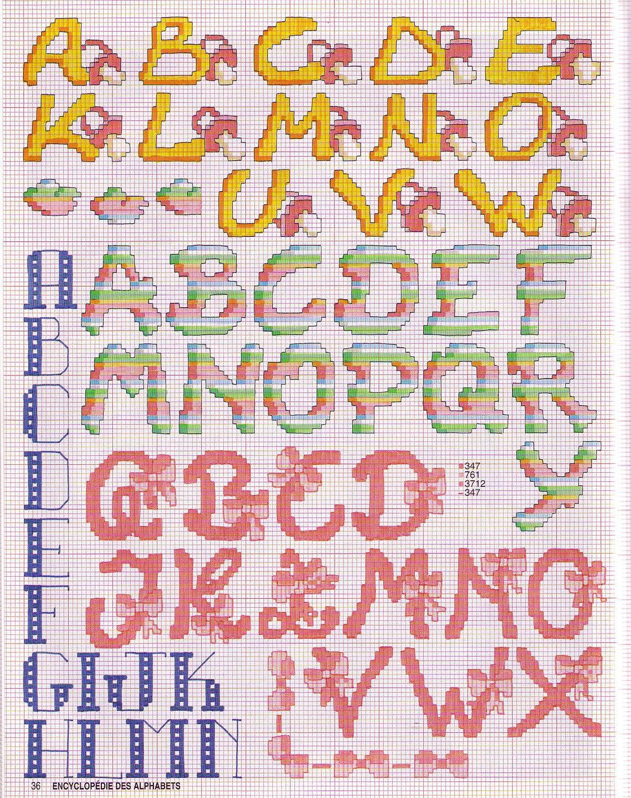 Grille Point De Croix Alphabet