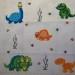 grille point de croix dinosaure