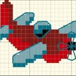 modèle point de croix avion