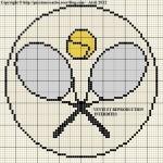 point de croix tennis