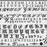 point de croix texte