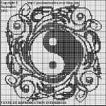 point de croix yin yang