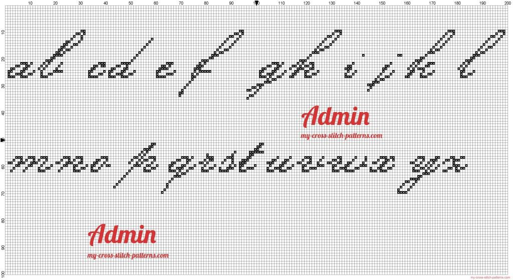 Grille point de croix alphabet minuscule 1 - Grille point de croix lettre ...