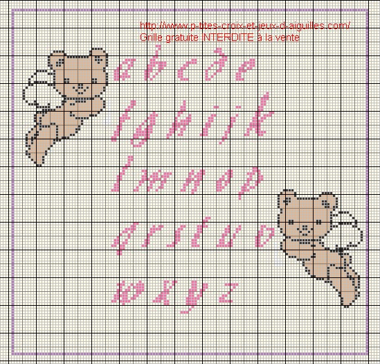 grille point de croix alphabet minuscule #9