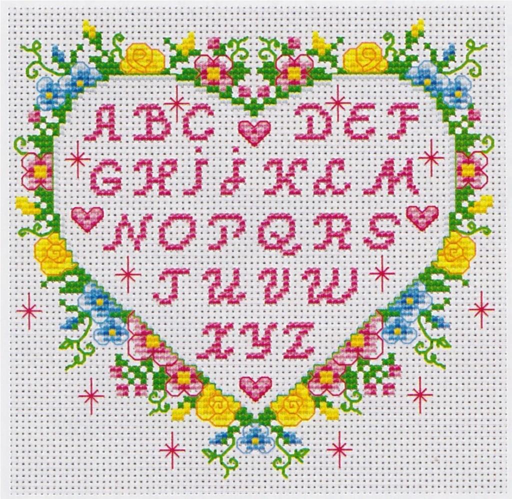 modèle broderie point de croix alphabet #10