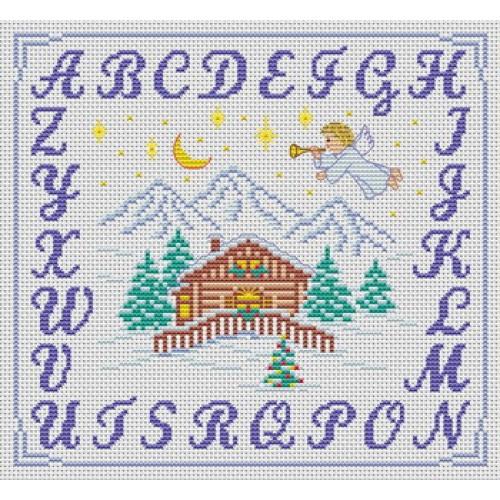 modèle broderie point de croix alphabet #11