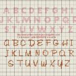 modèle point de croix lettre gratuit