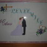 point de croix 50 ans de mariage