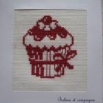 grille gratuite point de croix cupcake