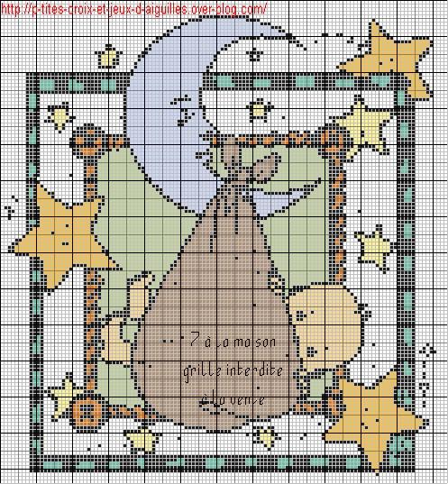grille point de croix naissance gratuite #13