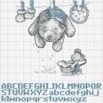 grille point de croix naissance gratuite