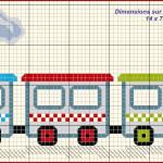 modèle point de croix train